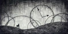 "Post with 1430 votes and 13558 views. Shared by A piece of artwork I made a while back using newspaper and charcoal. Inspired by ""Time"" by Pink Floyd. Newspaper Art, Clock Art, Diy Clock, Wall Clocks, Night Circus, Canvas Prints, Art Prints, Old Art, Time Art"