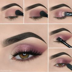 Here we have compiled simple eye makeup tips pictures. They can help you become an eye makeup expert. You can also easily get the perfect eye makeup. Makeup Eye Looks, Eye Makeup Steps, Eye Makeup Art, Simple Eye Makeup, Blue Eye Makeup, Eyeshadow Makeup, Easy Makeup, Easy Eyeshadow, Natural Makeup