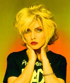 Debbie Harry in Andy Warhol's Bad T-Shirt, Old Street Studio, London, 1979  Picture: © Brian Aris