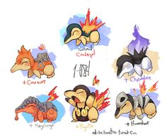 i've tried to do one of those pokemon variations i'm not sure if i did it right but it was pretty fun cyndaquil is one of my favorite starters