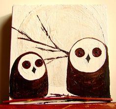 Barn Owl Wall Art Home DecoratingOwl DecorMini Art by BendixenArt, $26.00