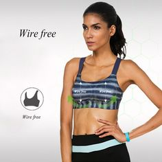 Women's Sports Bra Full Coverage Removable Padded Wire Free Quickdry Adjustable Running Yoga Underwear