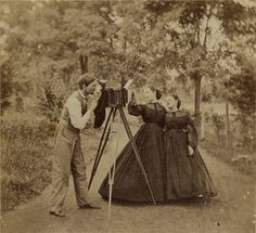 Great sheer dresses too. c. 1865 Mount Savage, Maryland Photographer by Photo_History, via Flickr