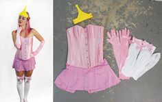 Princess Bubblegum! Another super fun costume we put together. Take a pink overbust corset, pink mini skirt, pink long gloves, and thigh highs with pink bows. Check out these items and more on our site: fishnetunderground.com. #princessbubblegum #bubblegum #costume #cosplay #halloween #pink Princess Bubblegum Cosplay, Pink Bows, Long Gloves, Overbust Corset, Cool Costumes, Bubble Gum, Thigh Highs, Halloween Ideas, Thighs