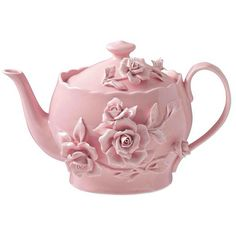 This dainty pink rose teapot would be perfect for a little girl's tea party birthday! Rosen Tee, Pink Teapot, Tout Rose, Teapots And Cups, Everything Pink, Chocolate Pots, My Tea, Pretty In Pink, Perfect Pink