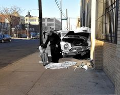 A tragic photo from 1959 after three-year-old Martha Cartagena was killed while riding her tricycle in Brooklyn.