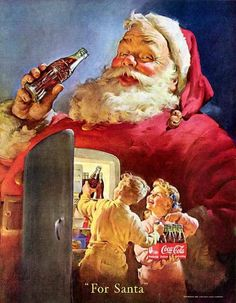 Vintage Coca-Cola -  Coca-Cola - Vintages Cards -  coca, cola, cocacola, vintage, xmas, christmas, holidays, free, clipart,