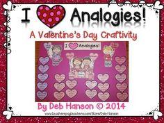 Analogy Craftivity:  I {Heart} Analogies