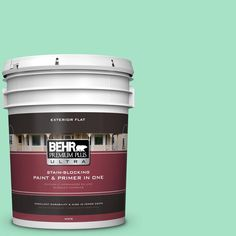 BEHR Premium Plus Ultra 5-gal. #470A-3 Reef Green Flat Exterior Paint
