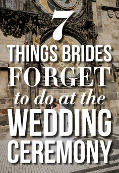 7 Things Brides Forget To Do At The Wedding Ceremony Wedding Advice, Wedding Planning Tips, Wedding Planner, Wedding Stuff, Free Wedding, Our Wedding, Wedding Decor, Wedding Bells, Wedding Ceremony