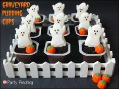 ghost pudding cups- Halloween hoot  and Oktoberfest?