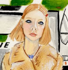 "MARGOT TENEnBAUM The Royal Tenenbaums Archival Art Print Watercolor Gouache Painting Wes Anderson 8.5inx11"" by usagipormoi on Etsy"