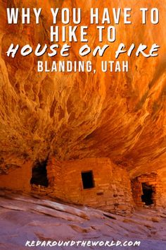 On Fire Ruins In Mule Canyon - -Hike To House On Fire Ruins In Mule Canyon - - The hike to House on Fire in mule Canyon along Highway 95 is an easy morning hike to unique ruins on Cedar Mesa near Blanding, Utah. Oh The Places You'll Go, Places To Travel, Utah Adventures, Utah Hikes, Hiking In Utah, Us Road Trip, Best Hikes, Adventure Is Out There, Hiking Tips