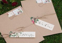 Свадебные конверты из крафта