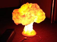 nuclear bomb 3d printed lamp