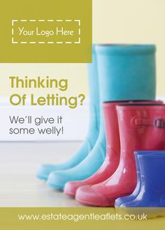 Product Code: E0994- Thinking of letting? We'll give it some welly! leaflet- Browse through hundreds of Estate Agent design templates! by @estateagentleaflets Visit our website for more information! #leaflet #estateagentleaflets #estateagents