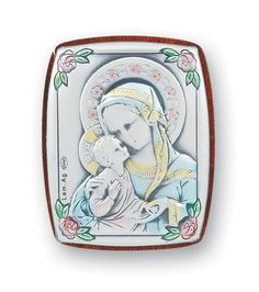 Madonna and Child Small Sterling Silver Plaque