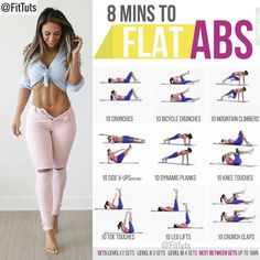 "Fitness Tutorials 〽️ pe Instagram: ""8 mins to flat abs workout! Will you do it? 💪🏻 💬: Tag a friend - like - save 〽️: Follow @FitTuts"""
