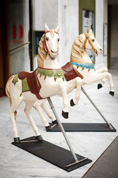 Two ex-carousel horses in Paris Mary Go Round, Picture Places, Wooden Horse, Painted Pony, Victorian Furniture, Carousel Horses, Paris Photos, Photo Diary, Horse Art