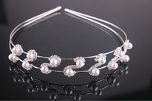 De Moda de corea del Dulce Elegante de Alta calidad de la Perla de Pelo Hoop Diadema Princesa Novia Tocado Chic Nueva Caliente(China (Mainland))