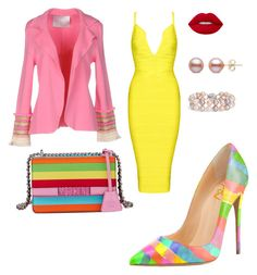 """""""Skittle inspired"""" by teneshiacampbell on Polyvore featuring Giada Benincasa, Moschino, Lime Crime and Blue Nile"""