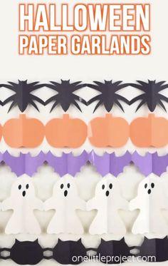 Comida De Halloween Ideas, Halloween Decorations For Kids, Halloween Arts And Crafts, Paper Crafts For Kids, Halloween Diy, Halloween Costumes, Halloween Nails, Women Halloween, Preschool Halloween Crafts