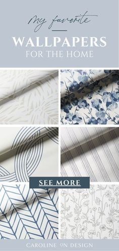 Looking for wallpaper for your home? I've made it easier for you by rounding up some of my absolute favorite wallpaper patterns below! Neutral Wallpaper, Of Wallpaper, Pattern Wallpaper, Beautiful Wallpaper, Wallpaper Ideas, Interior Paint Colors, Paint Colors For Home, Farmhouse Decorative Pillows, Coastal Nursery