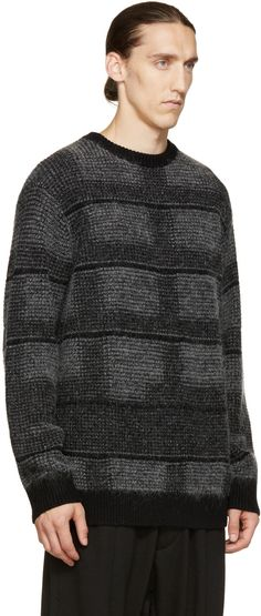 Public School Black & Grey Plaid Sweater