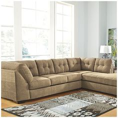 Signature Design by Ashley® Driskell Mocha 2-Piece Sectional  at Big Lots.