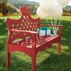 Really fun color benches.