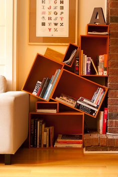 Another wonderfully abnormal bookcase.