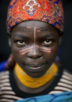 Menit tribe girl, Ethiopia