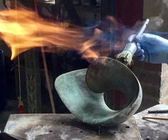 At the foundry. Jan van der Laan at work. November 2017