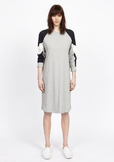 colorblock dress, grey - 6397