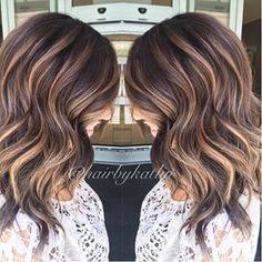 Deep brown with balayage