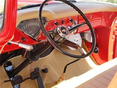 Interior of a 1959 apache pickup 1956 Chevy Truck, Classic Chevy Trucks, Lifted Ford Trucks, New Trucks, Classic Cars, Diy Truck Interior, Custom Car Interior, Chevrolet Apache, 1955 Chevrolet