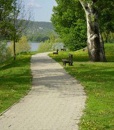 Visegrád A Dunakanyar egyedülálló látványa szerte a világból vonzza a turistákat. Az egyik legszebb panorámát Visegrád nyújtja, így, ha a természet csodáiban akarsz gyönyörködni, Sidewalk, Country Roads, Nature, Naturaleza, Side Walkway, Walkway, Nature Illustration, Off Grid, Walkways