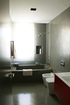 bañera de obra con microcemento