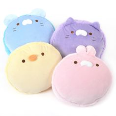 "What's better than a super squishy macaron? A super squishy macaron that looks like a cute animal! Choose from Rabbit, Chick, Rat, or Cat. Each of these fluffy friends measures a great big 13.8"" x 7.9"" x 13""."