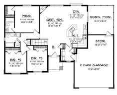 Floor Plans AFLFPW76173 - 1 Story Craftsman Home with 3 Bedrooms, 2 Bathrooms and 1,520 total Square Feet