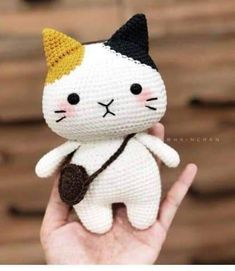 - - You are in the right place about amigurumi free pattern beginner Here we offer you the most beauti - Crochet Cat Pattern, Crochet Dolls Free Patterns, Crochet Stitches Patterns, Amigurumi Patterns, Diy Crochet, Crochet Crafts, Crochet Toys, Crochet Projects, Diy Crafts