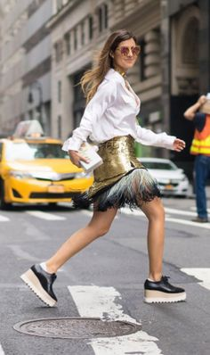 Metallic Skirt + Flatform