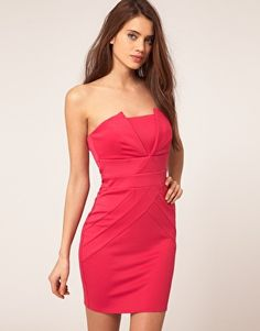 Buying this for my cousin's wedding! Lipsy Pleated Bandeau Dress
