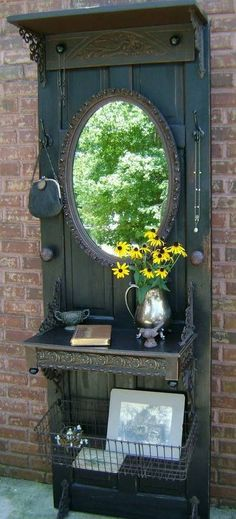 Vintage furniture that reuse and recycle old wood doors look interesting and original