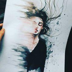 New Love Art Illustration Faces Ideas Art And Illustration, Landscape Illustration, Illustration Fashion, Medical Illustration, Portrait Illustration, Art Illustrations, Art Amour, Wow Art, True Art