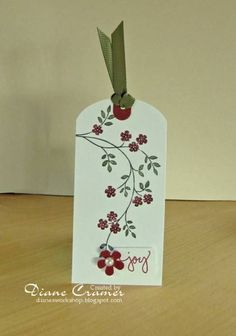 Joyful Christmas Tag by - Cards and Paper Crafts at Splitcoaststampers Christmas Tags Handmade, Holiday Gift Tags, Handmade Tags, Noel Christmas, Christmas Gift Tags, Xmas Crafts, Paper Crafts, Paper Tags, Card Tags