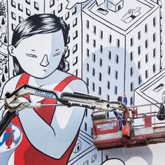Stunning Gigantic Street Art by Francesco Camillo Giorgino aks Millo. |FunPalStudio|Illustrations, Entertainment, beautiful, Art, Artwork, Artist, paintings, drawings, nature, World, Creativity, Instagram, street art, graffiti art, murals, Millo.