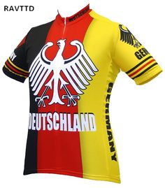 90074b486b9 Deutschland Cycling Jersey Ropa Ciclismo Cycling Clothing Germany Bike Wear  Clothes Short Sleeves Maillot Ciclismo Sportswear