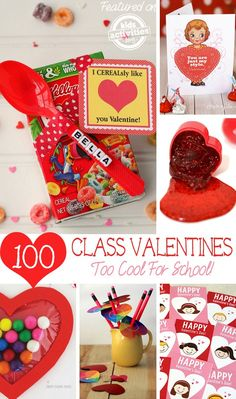 Kids Valentines for School - 100 ideas to pick from the perfect one for this Valentine's day!