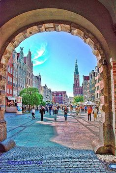 Entrance to Gdansk Old Town Poland
